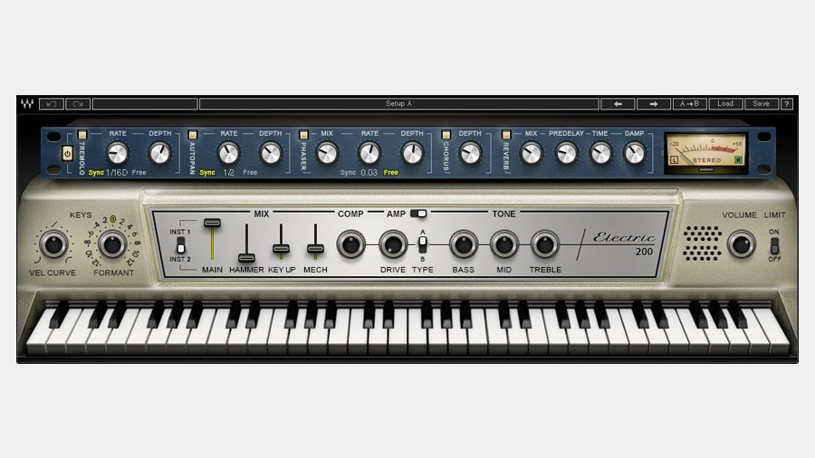Waves Electric 200 Piano: Wurlitzer Emulation