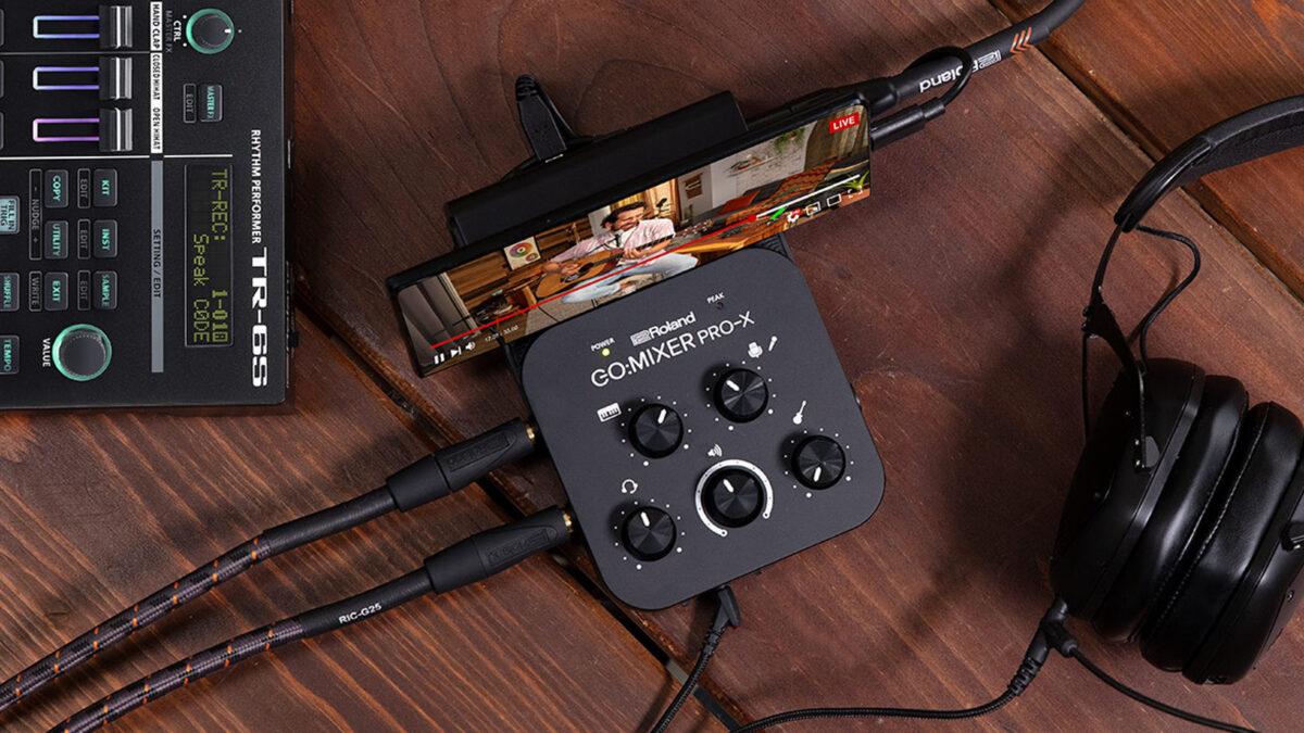 Roland GO:MIXER Pro-X: A portable audio mixer for phones & tablets